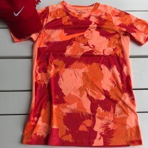 Nike orange short sleeve athletic T-shirt medium L
